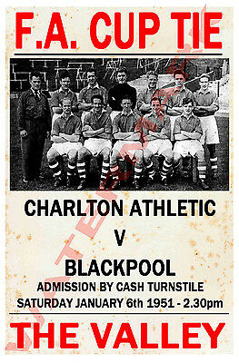 Charlton Athletic - Vintage Football Poster POSTCARDS - Choose From List • 0.99£