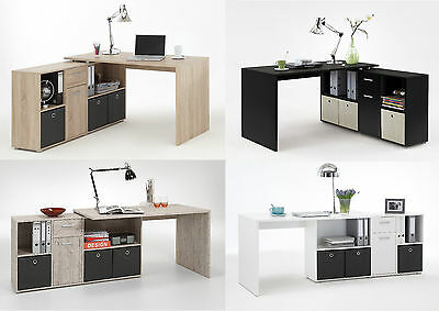 'Lexar' Range Of Combi-Fit Flat Wall & Corner Computer/PC Desks With Storage • 195£