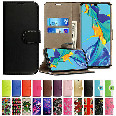 Case For Huawei P30 P20 Lite P40 Pro Genuine Leather Flip Wallet Magnetic Cover • 2.99£