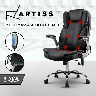 AU179.95 • Buy Artiss 8 Point Massage Office Chairs Computer Chairs Armrests Black