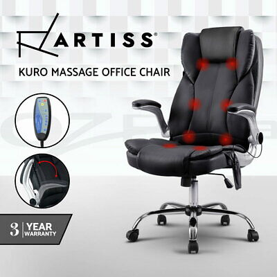 AU289.95 • Buy Artiss 8 Point Massage Office Chairs Computer Desk Chairs Armrests Black