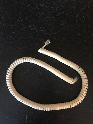 £1.84 • Buy Off White Telephone Phone Curly Handset Lead Cable Cord Wire Rj10 Plug