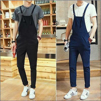 $48.72 • Buy Mens Fashion New Dungarees Straight Overalls Suspenders Jumpsuits Romper Pants #