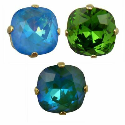 4fbb492b8 NEW La Vie Parisienne Catherine Popesco Swarovski Gold Stud Earrings •  45.95$