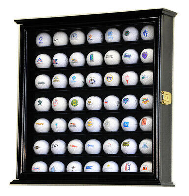 49 Golf Ball Display Case Cabinet Wall Rack Holder W/98% UV Protection Lockable  • 47£