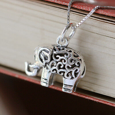 £13.90 • Buy Sterling Silver 3D Lucky Elephant Necklace Pendant Spiritual Jewellery
