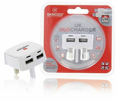£16.92 • Buy Skross Travel Adapter To UK United Kingdom Dual 5v 2.1A 2100mA USB Charger