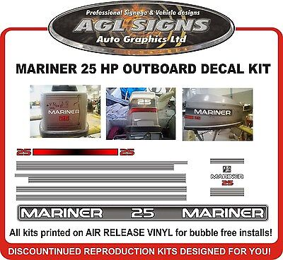 mariner outboard decals