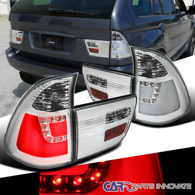 $176.95 • Buy For 00-06 BMW E53 X5 Clear LED Parking Tail Lights Rear Brake Reverse Lamps Pair