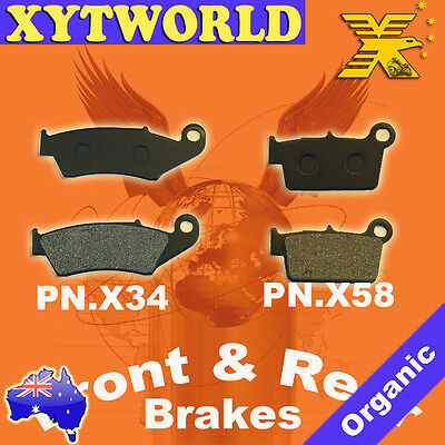 $24.59 • Buy FRONT REAR Brake Pads For YAMAHA YZ 125 R S T V W 2T 2003 2004 2005 2006 2007
