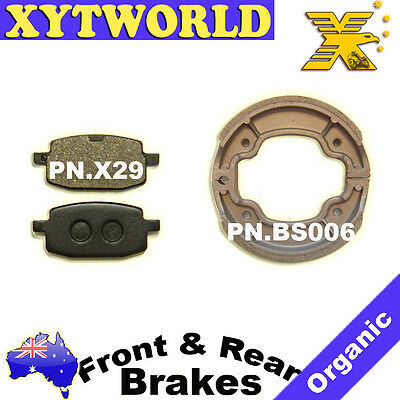 AU43.93 • Buy FRONT REAR Brake Pads Shoes For YAMAHA YW 100 T Booster BW S 1996
