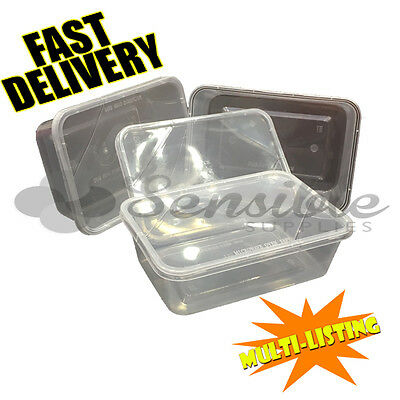 £7 • Buy High Quality Food Plastic Containers Microwave Freezer Safe Takeaway *all Sizes*