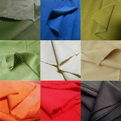 AU15.88 • Buy Soft Peach Skin Heavy Cotton Canvas Fabric For Upholstery Crafts  78 Colors  60
