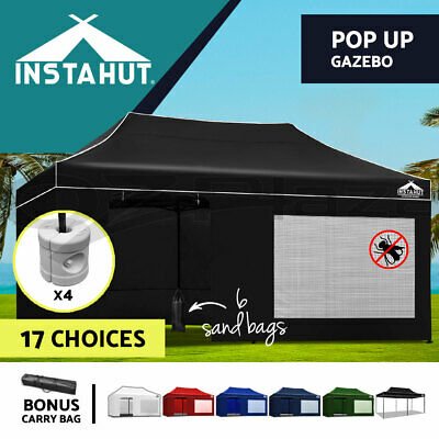 AU238.90 • Buy Instahut Gazebo Pop Up Marquee 3x6 Outdoor Wedding Gazebos Tent Folding Base Pod