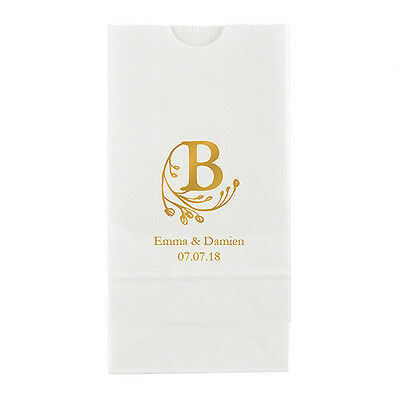 50 Modern Fairy Tale Initial Personalized Wedding Favor Bags Candy Buffet • 43.89£