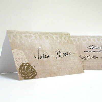 24 Vintage Lace Personalized Wedding Place Cards • 14.98£