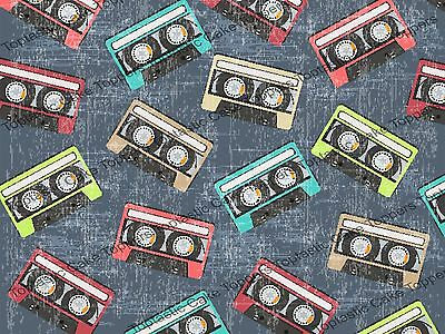 £4.15 • Buy 80s Music Cassette Tapes Background Pattern Edible Icing Cake Topper