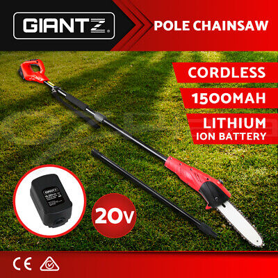 AU149.95 • Buy Giantz Pole Chainsaw 20V Lithium-Ion Tool Cordless Battery Electric Saw Pruner