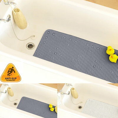 Extra Long Anti Slip PVC Bath Shower Mat Rubber Soft Cushioned With Suction Cups • 8.95£