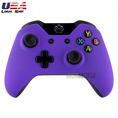 $12.99 • Buy Soft Touch Purple Controller Repair Front Housing Shell Faceplate For Xbox One