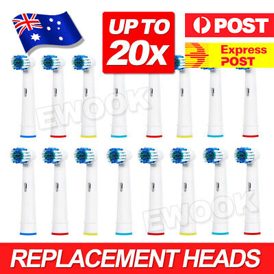 AU13.95 • Buy 20pcs Electric Toothbrush Replacement Heads For Oral B Braun Models Series AU