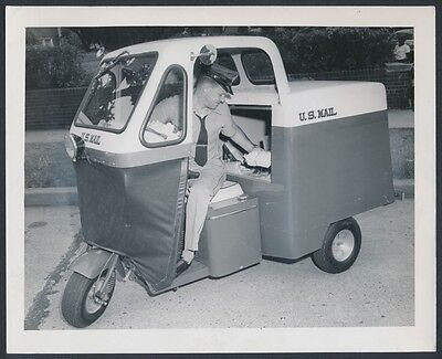 $49.95 • Buy 1959 United States Post Office,  Mail Delivery Via Scooter  Vintage Photo