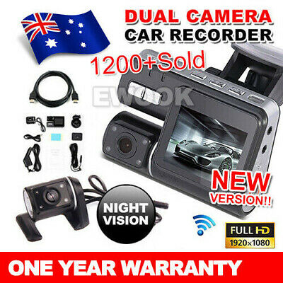 AU52.95 • Buy Dual Car Camera True HD 1080P G-sensor Recorder Crash Cam H 264 Dash DVR Video