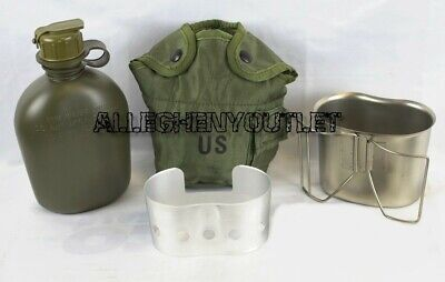 $ CDN30.19 • Buy MINT Military 4 Pc 1 Quart CANTEEN SET W/ 1 QT OD Cover, Cup With Stove / Stand