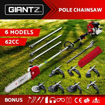 AU149.95 • Buy Giantz 62CC Petrol Pole Chainsaw Saw Brush Cutter Whipper Snipper Hedge Trimmer