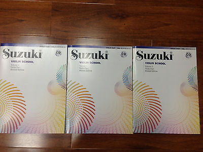 AU65.09 • Buy NEW Suzuki Violin School 3 BOOKS AND CD SET VOLUMES 1, 2, 3