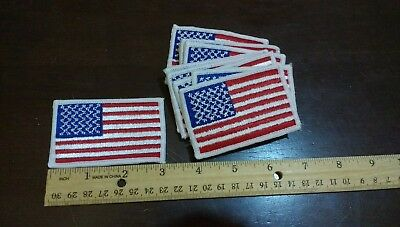 $8.99 • Buy Lot Of 4 US American Flag Shoulder 3  X2  White Border Patches Militia Scouts