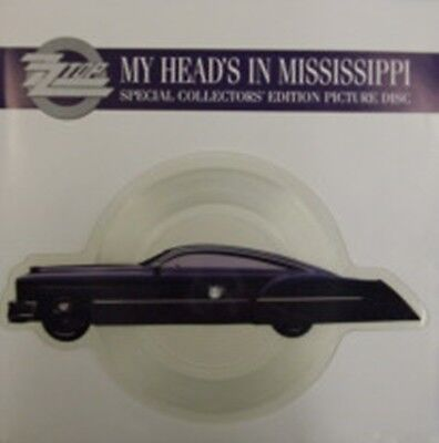 ZZ Top, My Head's In Mississippi, NEW Shaped PICTURE DISC 7 Inch Vinyl Single • 14.99£