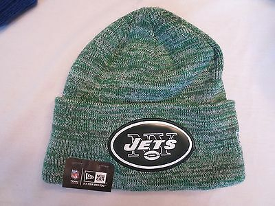 9b10887197c New Era Nfl Bevel Team Sport Cuffed Knit Hat Cap New York Jets Beanie Nwt •