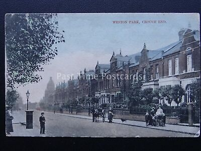£18 • Buy London CROUCH END Weston Park Road C1907 Postcard By Charles Martin 588