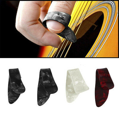 $ CDN0.99 • Buy New!! 3 Finger Picks + 1 Thumb Pick Plectrums Guitar Adjustable Plastic Set