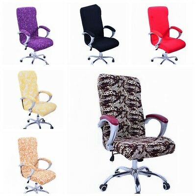 AU15.99 • Buy Swivel Computer Chair Cover Stretch Office Armchair Protector Seat Decorat New