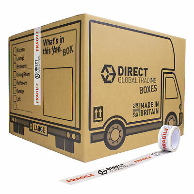 10 Strong Extra Large Cardboard Storage Packing Moving House Boxes Double Walled • 23.99£