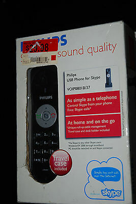 £10.90 • Buy Philips USB VOIP 080 Travel Phone Wired USB Skype Connection Used