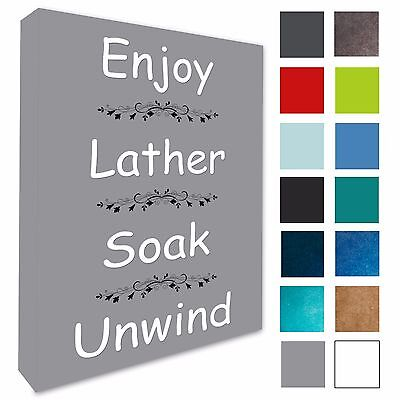 Bathroom Wall Art Picture Enjoy Lather Bathroom Wall Canvas Prints 4 Sizes 135 • 13.29£