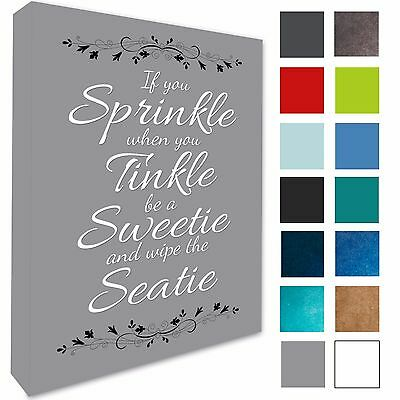 Bathroom Plaque Wall Art Picture If You Sprinkle Canvas Prints 17 Colours 258 • 13.99£