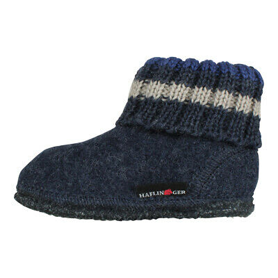 Haflinger Kids Slippers House Shoes Slippers Slippers Warm Paul Jeans Blue • 22.28£