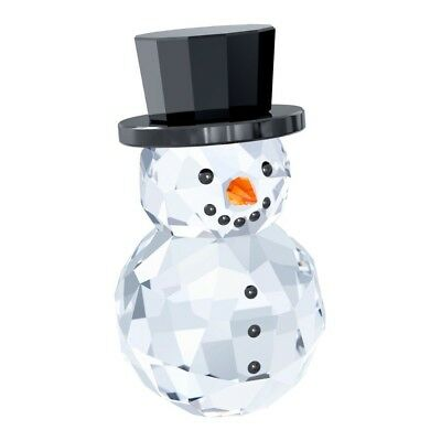 Swarovski Crystal Christmas Figurine SNOWMAN WITH HAT #5135852 New