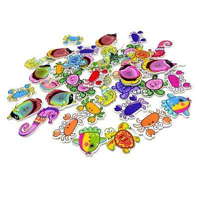 £4.70 • Buy 100x    Animals Wooden Buttons For DIY Sewing On Clothing Decoration
