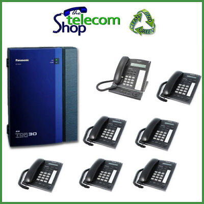 Panasonic KX-TDA30 Telephone System Analogue And 7 Phones W/O Side Cover • 350£