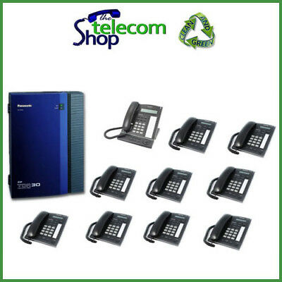 Panasonic KX-TDA30 ISDN Telephone System With 10 Phones W/O Side Cover • 305£