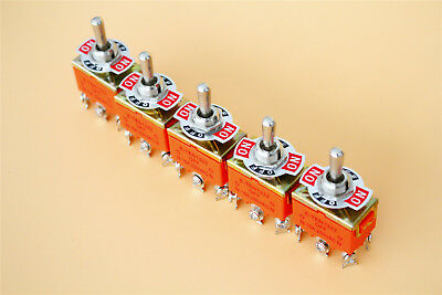 DPDT Toggle Switch 5Pcs AC 250V 15A Amps ON/OFF/ON 3 Position • 6.78$