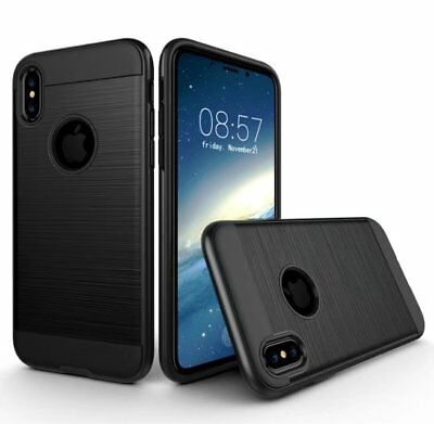For IPhone X Hybrid Armor Metal Shockproof Detachable Slim Protective Case Cover • 1.99£