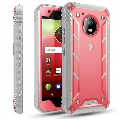AU16.30 • Buy Motorola Moto E4 Case,Poetic® [Dual Layer] Shockproof Hard Shell Cover Pink