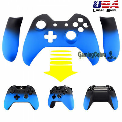 $14.41 • Buy Front Shell Case Faceplate Side Rails For Xbox One Controller Shadow Light Blue
