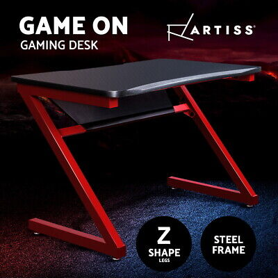 AU226.90 • Buy Artiss Office Computer Desk Study Gaming Table Racer Chair Desks Laptop Home Red